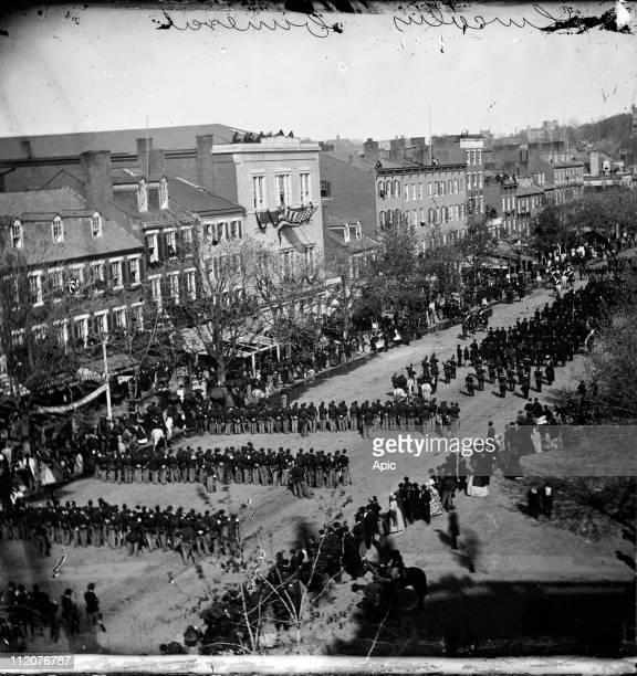 Abraham Lincoln's funeral on Pennsylvania Avenue Washington april 19 1865