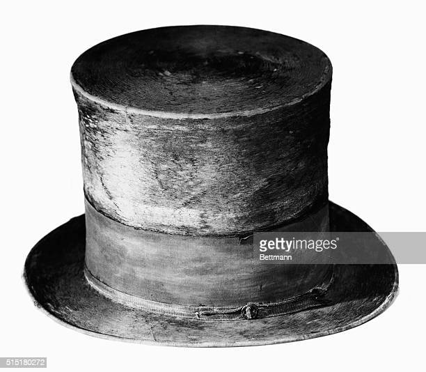 Abraham Lincoln's stove pipe hat Side view Undated photograph BPA2# 2859