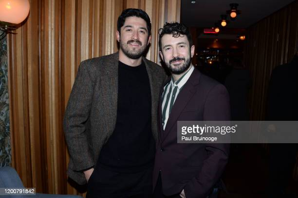 Abraham Lule and Al Blackstone attend MAC Nordstrom And The CFDA Host The After Party For The Times Of Bill Cunningham at Bistrot Leo on February 13...