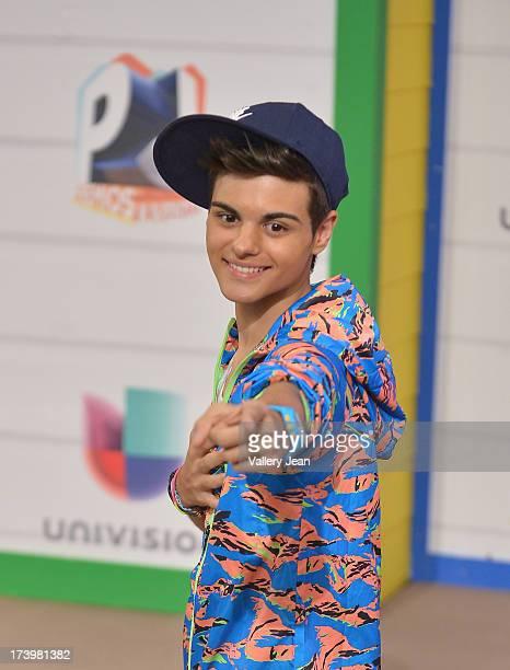 Abraham Mateo arrives at Premios Juventud 2013 at Bank United Center on July 18 2013 in Miami Florida