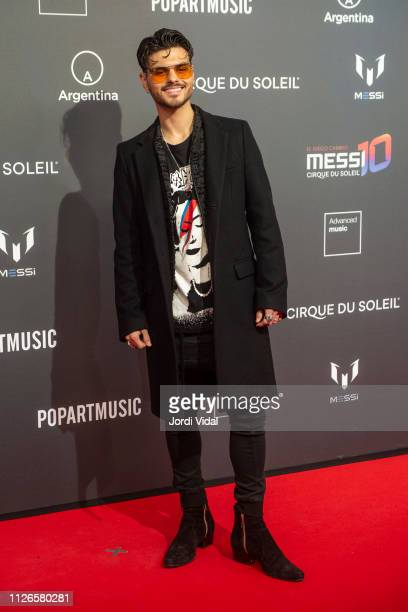 Abraham Mateo attends the Cirque Du Soleil inspired by Leo Messi premiere at Camp Nou FC Barcelona football stadium on January 31, 2019 in Barcelona,...