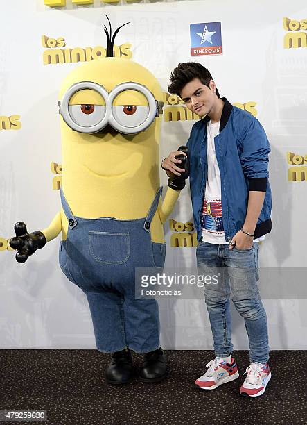 Abraham Mateo attends the premiere of 'The Minions' at Kinepolis Cinema on July 2 2015 in Madrid Spain