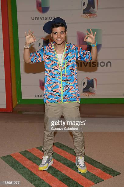 Abraham Mateo attends the Premios Juventud 2013 at Bank United Center on July 18 2013 in Miami Florida