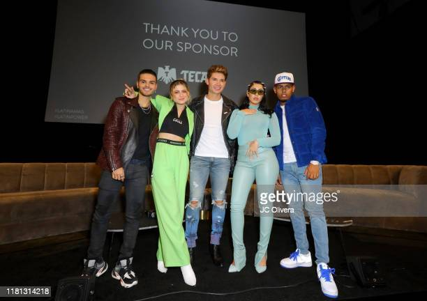Abraham Mateo Sofia Reyes Christian Acosta Kali Uchis and Myke Towers attend Billboard Latin AMA Fest at NeueHouse Los Angeles on October 15 2019 in...