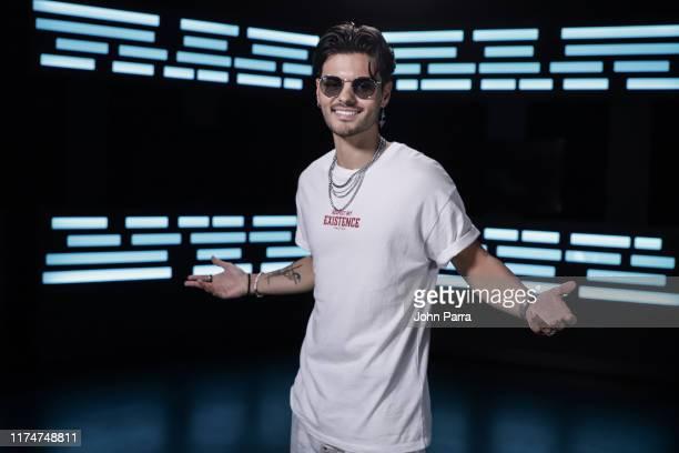 Abraham Mateo visits La Musica Studio on October 9 2019 in Miami Florida