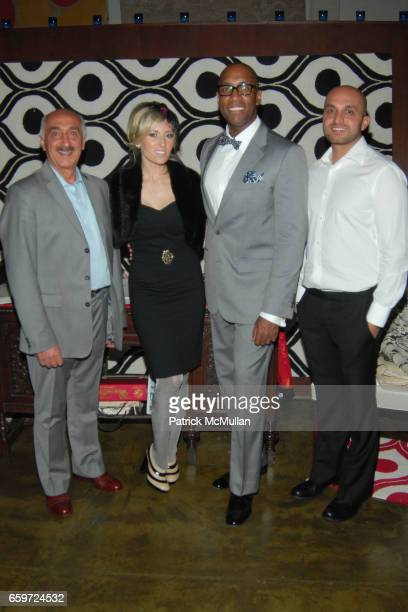 Abraham Moradzadeh Jaime Rummerfield Rod Woodson and Sam Moradzadeh attend WOVEN ACCENTS Introduces The FLORENCE BROADHURST Rug Collection During...