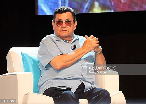 Abraham Quintanilla speaks onstage during the 'Selena's Legacy Fotos y Recuerdos A Conversation with the Quintanilla Family' during People En...