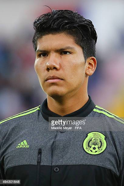 Abraham Romero looks on before the FIFA U17 World Cup Chile 2015 Group C match between Germany and Mexico at Estadio Fiscal on October 24 2015 in...
