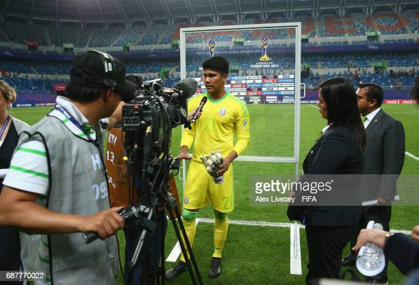 Abraham Romero of Mexico ois interviewed after the FIFA U20 World Cup Korea Republic 2017 group B match between Mexico and Germany at Daejeon World...