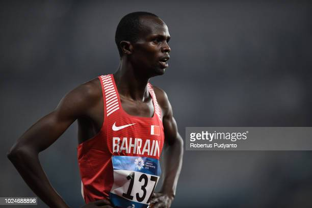 Abraham Rotich of Bahrain competes during the Men's 800m Round 1 Heat 2 on day nine of the Asian Games on August 27, 2018 in Jakarta, Indonesia.