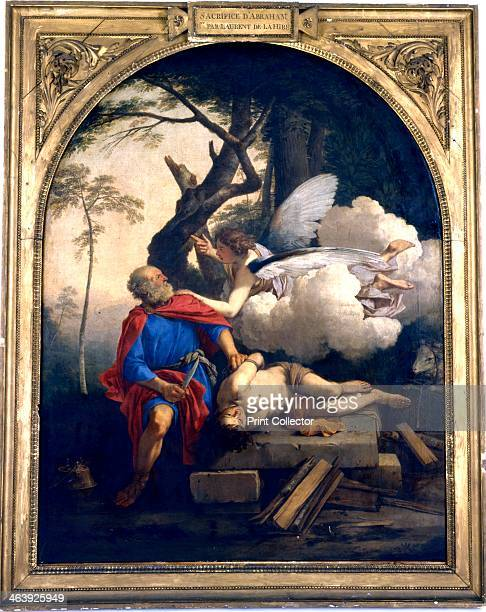'Abraham's Sacrifice' 17th century The Angel of the Lord holds back Abraham's hand before he sacrifices his son Isaac on the order of the Lord A lamb...