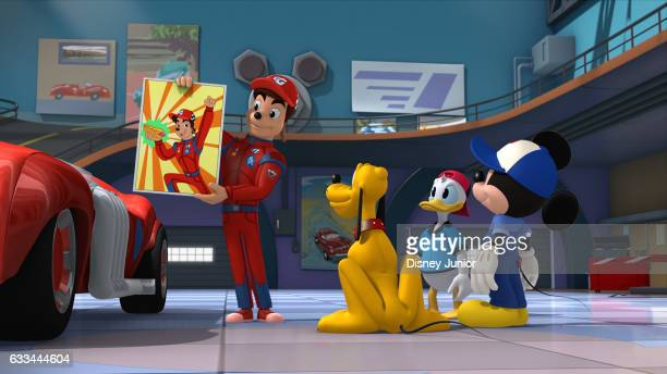 RACERS AbrakaGoof Goofy thinks he's used his magician skills to turn Gordon Gear into a rabbit This episode of Mickey and the Roadster Racers airs...