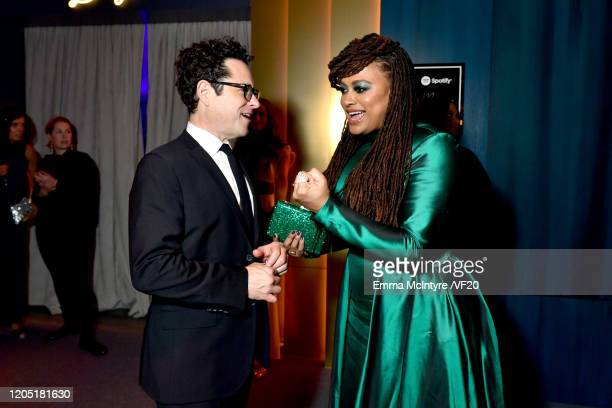 JJ Abrams and Ava DuVernay attend the 2020 Vanity Fair Oscar Party hosted by Radhika Jones at Wallis Annenberg Center for the Performing Arts on...