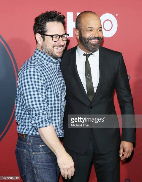 J Abrams and Jeffrey Wright arrive at the Los Angeles premiere of HBO's Westworld season 2 held at The Cinerama Dome on April 16 2018 in Los Angeles...
