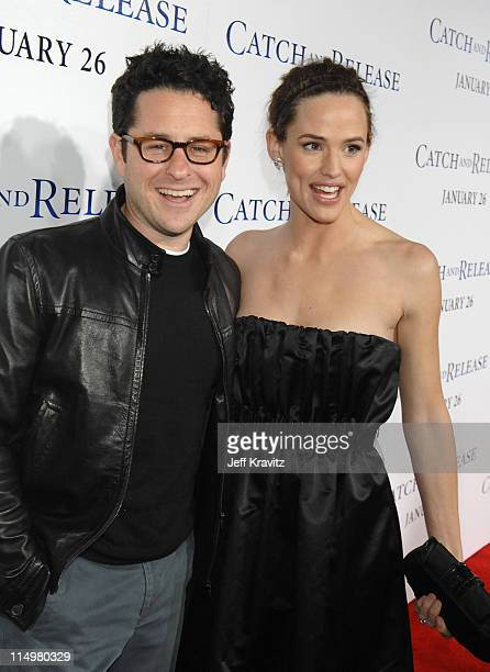 JJ Abrams and Jennifer Garner during 'Catch and Release' Los Angeles Premiere Red Carpet at The Egyptian Theatre in Hollywood California United States