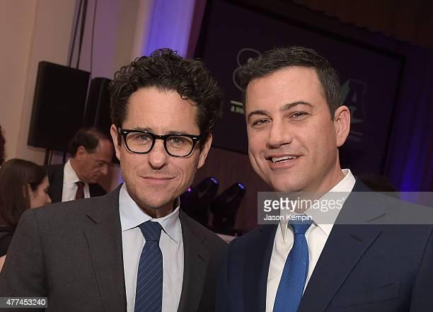 J Abrams and Jimmy Kimmel attend 826LA's 10th Anniversary Gala at Santa Monica Bay Woman's Club on June 16 2015 in Santa Monica California