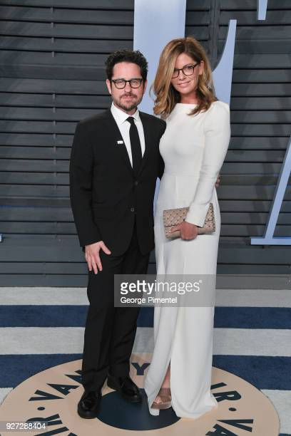 J Abrams and Katie McGrath attend the 2018 Vanity Fair Oscar Party hosted by Radhika Jones at Wallis Annenberg Center for the Performing Arts on...