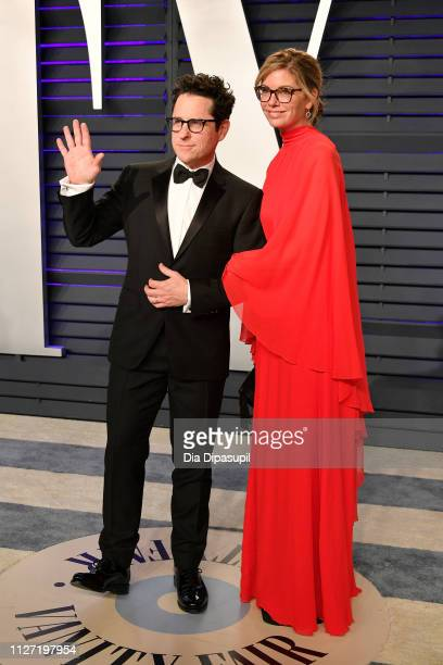 J Abrams and Katie McGrath attend the 2019 Vanity Fair Oscar Party hosted by Radhika Jones at Wallis Annenberg Center for the Performing Arts on...