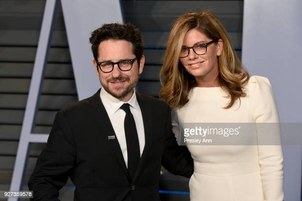 J Abrams and Katie McGrath attends the 2018 Vanity Fair Oscar Party Hosted By Radhika Jones Arrivals at Wallis Annenberg Center for the Performing...