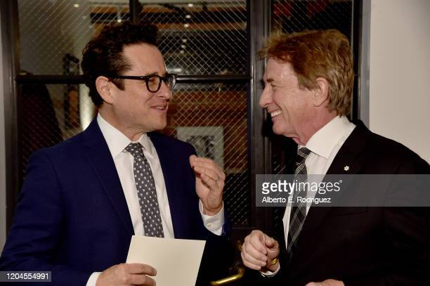 JJ Abrams and Martin Short attend the Oscar Wilde Awards 2020 at Bad Robot on February 06 2020 in Santa Monica California