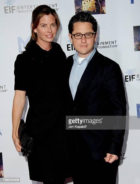 JJ Abrams and wife Katie McGrath during Mentor LA Promise Gala Honoring Tom Cruise at Twentieth Century Fox Studios in Los Angeles California United...