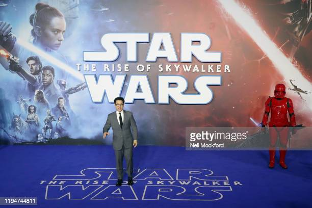 J Abrams attends Star Wars The Rise of Skywalker European Premiere at Cineworld Leicester Square on December 18 2019 in London England
