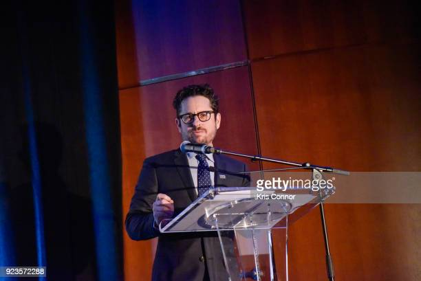 J Abrams attends the 2018 Athena Film Festival Awards Ceremony at The Diana Center At Barnard College on February 23 2018 in New York City