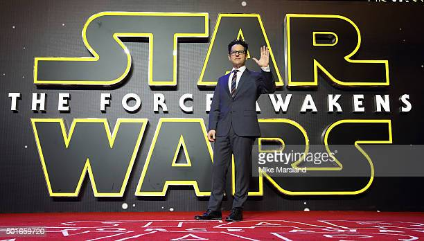 J Abrams attends the European Premiere of 'Star Wars The Force Awakens' at Leicester Square on December 16 2015 in London England