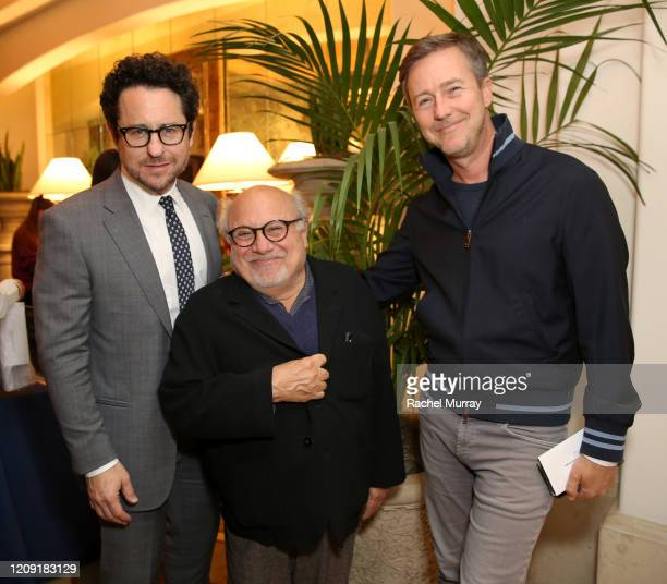 JJ Abrams Danny DeVito and Edward Norton attend The Center for Reproductive Rights 2020 Los Angeles Benefit on February 27 2020 in Beverly Hills...