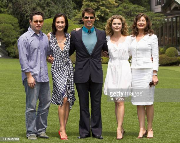 JJ Abrams director Maggie Q Tom Cruise Keri Russell and Paula Wagner producer