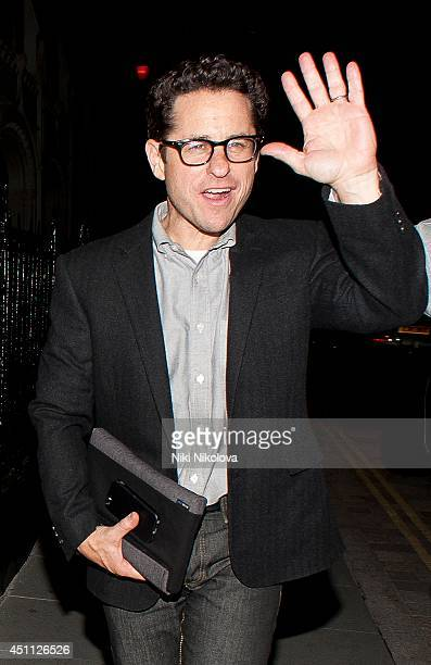 J Abrams is seen arriving at the Chiltern Firehouse Marylebone on June 23 2014 in London England