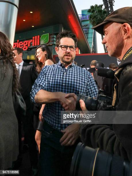 J J Abrams is seen on April 16 2018 in Los Angeles California