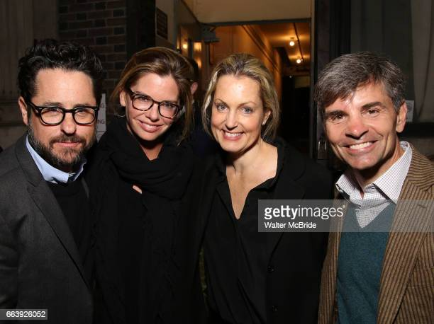 J Abrams Katie McGrath Alexandra Wentworth and George Stephanopoulos attend 'The Play That Goes Wrong' Broadway Opening Night at the Lyceum Theatre...