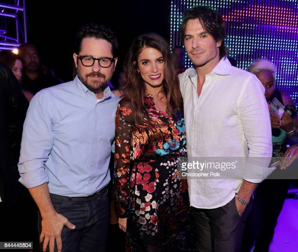 J Abrams Nikki Reed and Ian Somerhalder attend the XQ Super School Live presented by EIF at Barker Hangar on September 8 2017 in Santa California