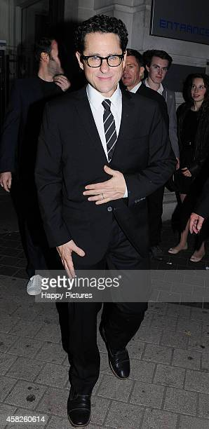 Abrams seen at the Star Wars wrap party at the Science Museum on November 1 2014 in London England