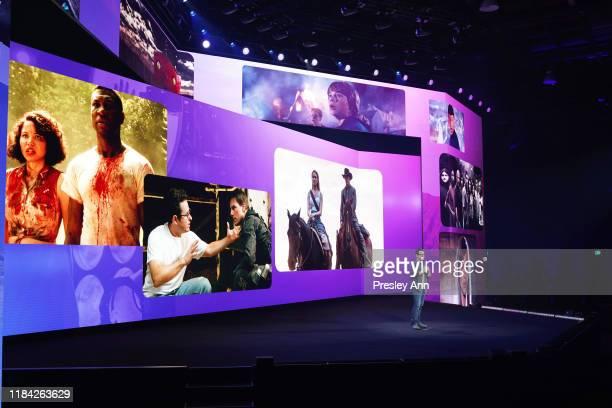 J Abrams speaks onstage at HBO Max WarnerMedia Investor Day Presentation at Warner Bros Studios on October 29 2019 in Burbank California