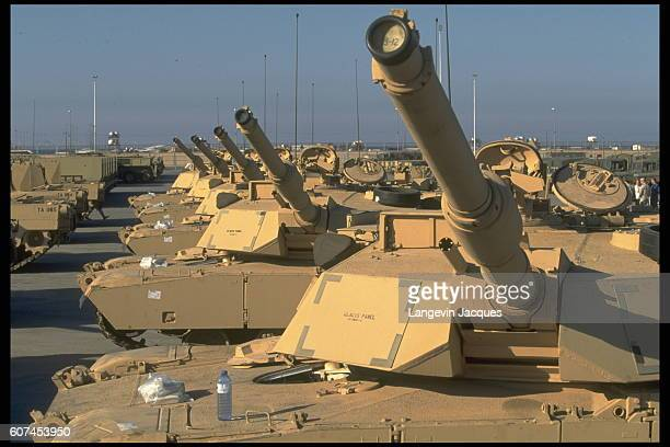 M1 Abrams tanks left since 1991 at Camp Doha