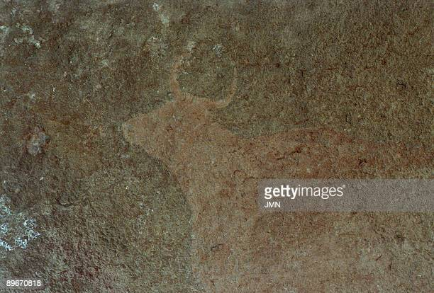 Abrigo del Callejon del Plou Albarracin Teruel Prehistoric art Paleolithic rock painting