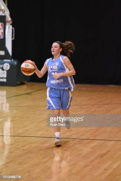 Abril Vernazza of South America Girls brings the ball up the court against India Girls during the Jr NBA World Championships Tournament in Orlando...