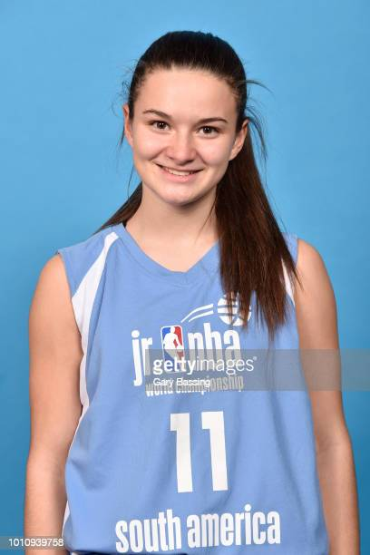 Abril Vernazza of South America Girls poses for a head shot during the Jr NBA World Championships Media Circuit in Orlando Florida at Disney's...