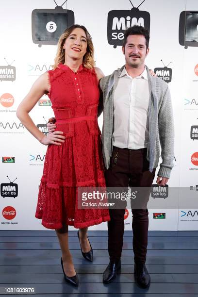 Abril Zamora and Carlos del Hoyo attend 'Senoras Del ampa photocall at Cineteca on December 12 2018 in Madrid Spain
