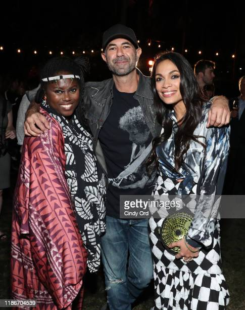 Abrima Erwiah Jeremy Kost and Rosario Dawson attend the #TogetherBand Party Art Basel Miami 2019 at Miami Beach Botanical Garden on December 5 2019...
