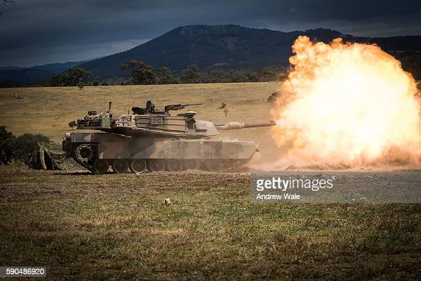 abrims main battle tank - armored tank stock photos and pictures