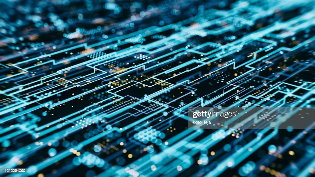 Abs Hologramm Datenflussraster : Stock-Foto