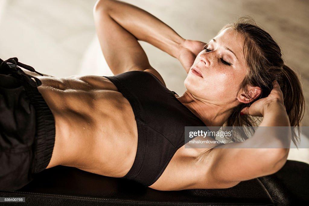 Abs workout : Stock Photo