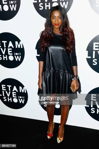 Absa Toussi attends the Etam show as part of the Paris Fashion Week Womenswear Spring/Summer 2018 on September 26 2017 in Paris France