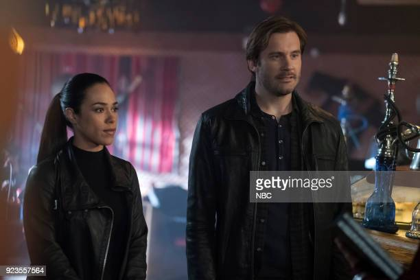 """Absalom"""" Episode 209 -- Pictured: Jessica Camacho as Santana, Clive Standen as Bryan Mills --"""