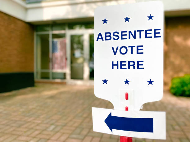 """""""Absentee Vote Here"""" Directional Sign"""