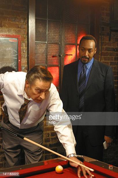 LAW ORDER 'Absentia' Episode 13 Aired Pictured Jerry Orbach as Detective Lennie Briscoe and Jesse L Martin as Detective Ed Green Photo by NBCU Photo...