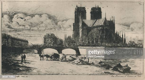 'L'Abside De NotreDame De Paris ' From Masters of Etching Charles Meryon No 14 [The Studio London 1927] Artist Charles Meryon